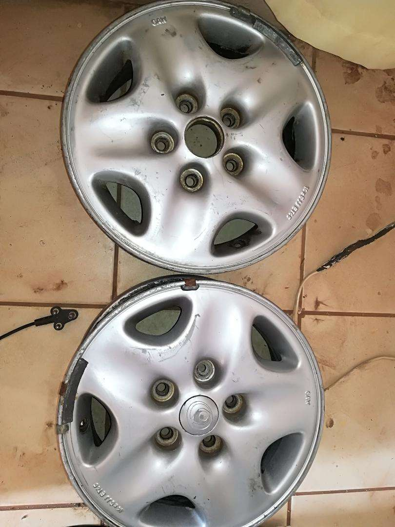 "2 * 14"" 5 hole by 114pcd mazda rim 0"