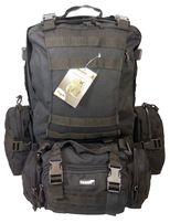 Plecak CAMPER 60l TEXAR czarny,2 główne komory, pas biodrowy/piersiowy