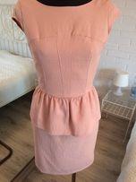 Sukienka żakardowa reserved roz.34 cielista, pudrowa