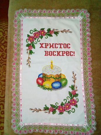 Великодній рушник вишитий чеським бісером Дубно - изображение 1