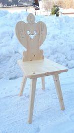 Krzesła krzesło zydel rzeźbione góralskie meble lite drewno