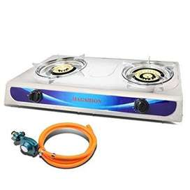 Brandnew Stainless steel 2plate gas stove goes with pipe and regulator