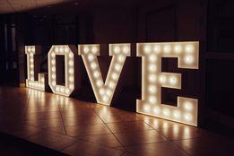 ŚWIECĄCY NAPIS LOVE - idealny na wesele, przyjęcie lub plener