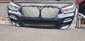 BMW X3 COMPLETE FRONT BUMPER WHIT HEAD LIGHTS AVAILABLE