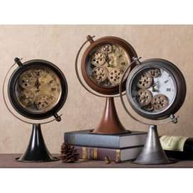 Jubilee Industrial Steampunk Vintage Table Clock.  (Free delivery)
