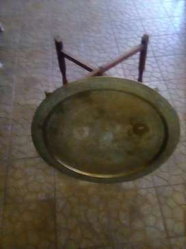 Antique brass table