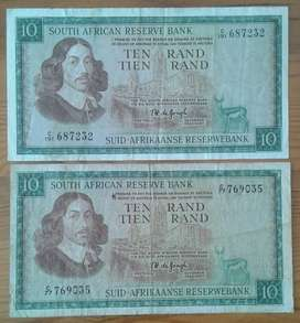 Set of x2 1967 R10 notes