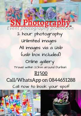 Event photography promotion