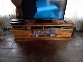 Solid Pine wood TV stand