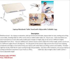 Laptop Notebook Table Stand with Adjustable Foldable Legs