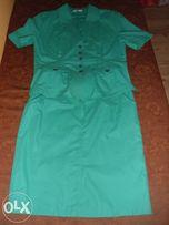 Komplet: żakiet + spódnica ROZMIAR 42 - ZIELONY