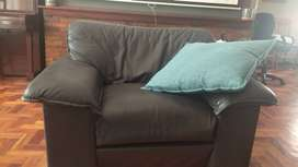 Leather couches, 3,2,1