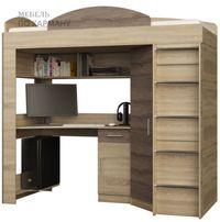 Кровать-Чердак с угловым шкафом и столом