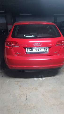 A3 1.4 Audi 2012 model metalic Red 6 foward