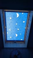 Пружинна система рулонних штор для мансардних вікон ( велюкс VELUX )