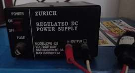 ZURICH 13.8V, 5 AMP Regulated Bench Power Supply. Price is negotiable