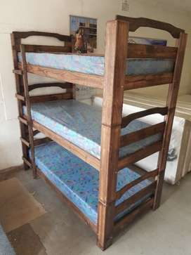 Triple bunk with mattresses For R4800-(YOU CAN PAY AT HOME)
