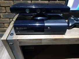 X Box 360 with games and 3 consoles