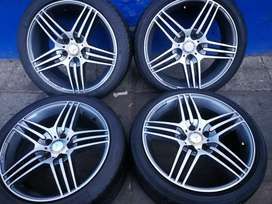 A set of Mercedes Benz AMG mags and tyres 18 inch