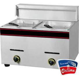 TWO TANK GAS DEEP FRYER