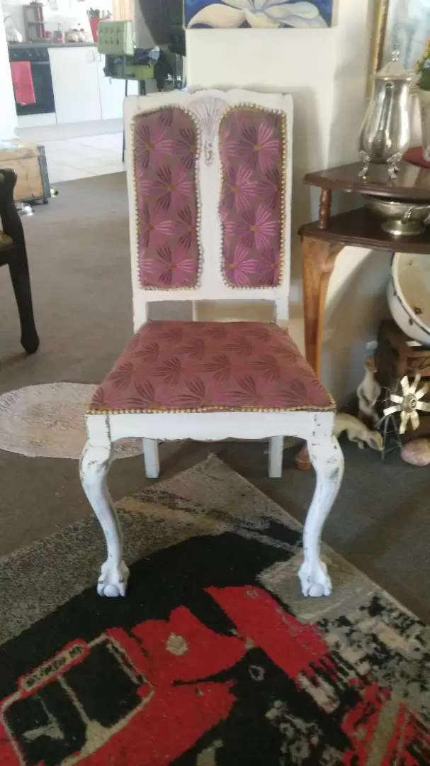 Distressed Ball and Claw Occasional chair for Sale - Refurbished 0