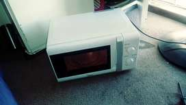 White small microwave,