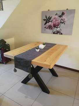 CROSSLEG TABLES AND BENCHES