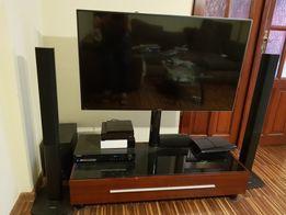 NOWA szafka tv uchwyt do telewizora kolor mahoń