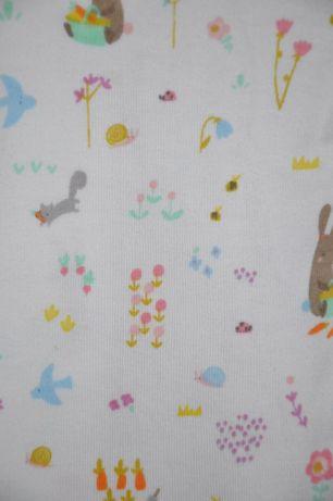 MOTHERCARE Dziewczęca piżamka w zwierzątka leśne 9-12 miesięcy 74-80cm Wilga - image 5