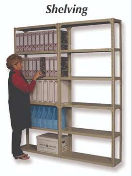 Different sizes of Painted Bolted Shelving
