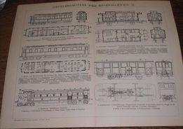 Oryginalne XIX w. grafiki kolejowe- Pociągi, Lokomotywy- KOLEJ