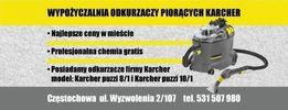 Wypożyczalnia odkurzaczy piorących Karcher doba 59 zł chemia gratis