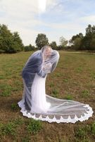 Suknia ślubna (czysta biel) 38/40 +welon