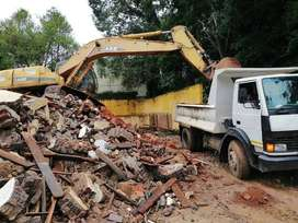 rubble removal,tree felling,tlb hire,tipper truck hire