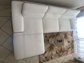 L-Shaped Leather couch for sale