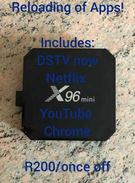Android TV Box Reload Of Apps.