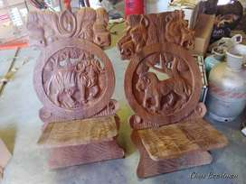 Solid Wood hand crafted Africa chairs 4 sale