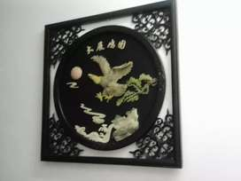 2 Chinese Wall Art Pieces For Sale.
