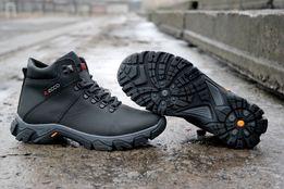 Мужские зимние ботинки Ecco,Columbia из натуральной кожи (есть дропшип