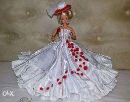 Одежа, платье для куклы Барби ручная работа