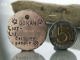 Adresówka dla psa miedziana - Hand-made
