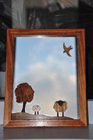 Оригинальное зеркало в деревянной раме ! OLX доставка