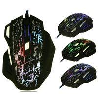 Игровая Компьютерная Мышка 5500 DPI Новая 7 Кнопок Мышь Подсветка USB