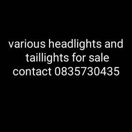 Various headlights and taillights for sale ,listed below