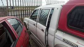 Mitsubishi Colt 2001 double cab stripping for spares.