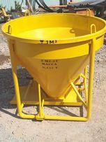 Бункер, рюмка, бадья, ёмкость, для подачи бетонна