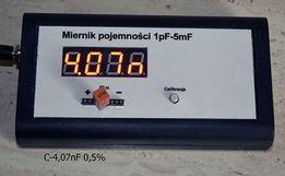 Miernik pojemności 1pF do 5mF