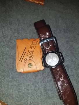 Watch and belt combo