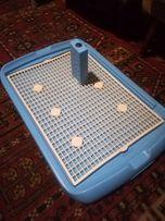 Туалет (горшок) для собачек со столбиком 68×46