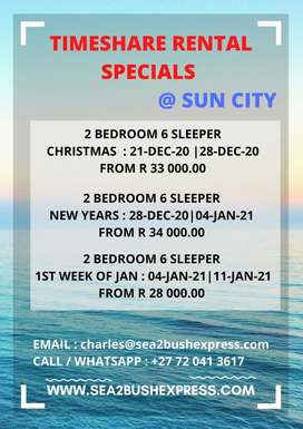Sun City Vacation Club and more